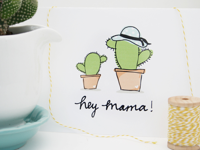 Mothers Day Gift Cactus In A Mug And Free Printable