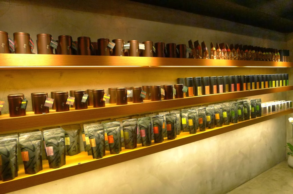 Inside Zenique organic tea shop