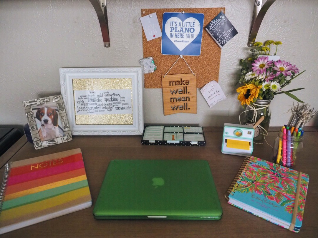 love you more too north dallas blogger plano lifestyle blogger desk essentials Kate Spade lilly pulitzer