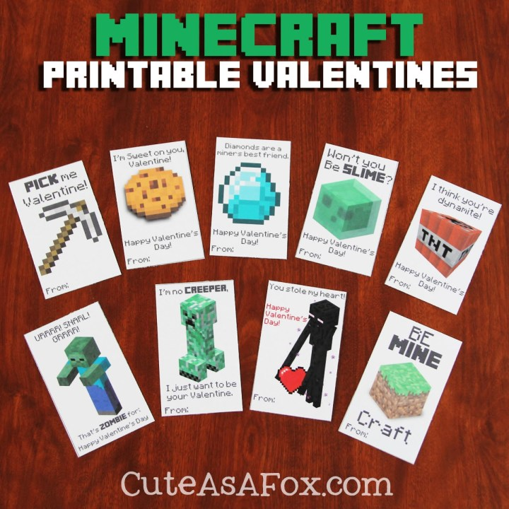 Minecraft-Printable-Valentines-Title