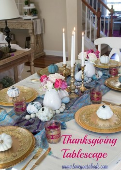 Thanksgiving Tablescape with Family Recipe
