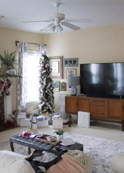 Living Room DIY Paneled Wall Makeover with Home Depot