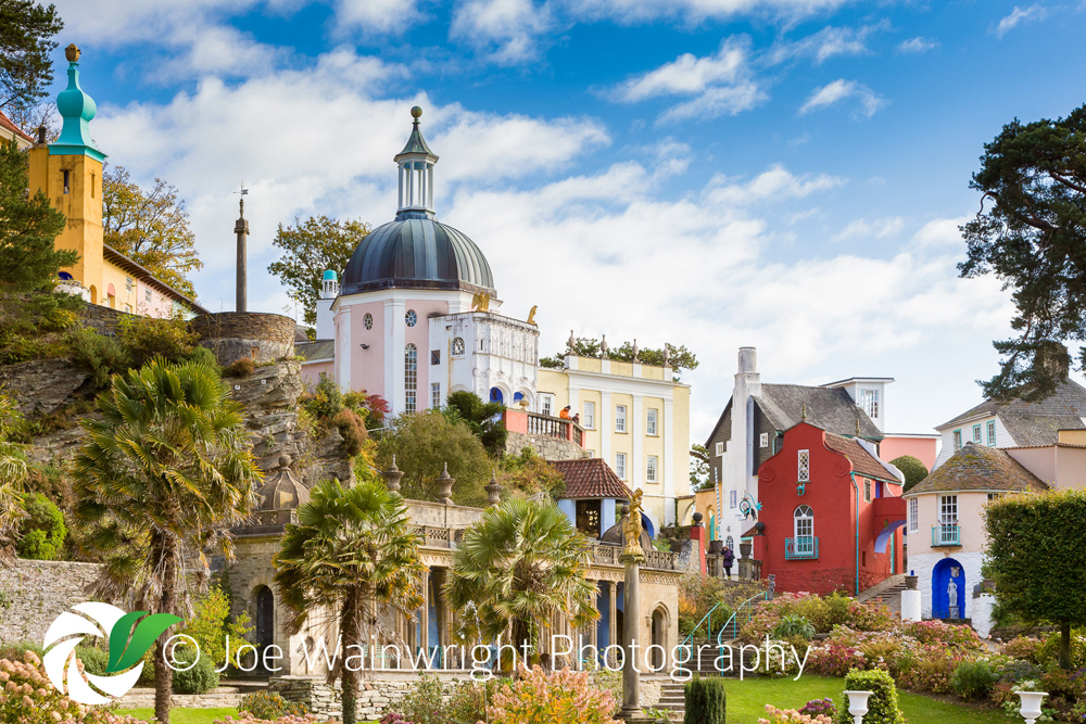 Portmeirion - Pantheon from The Central Piazza