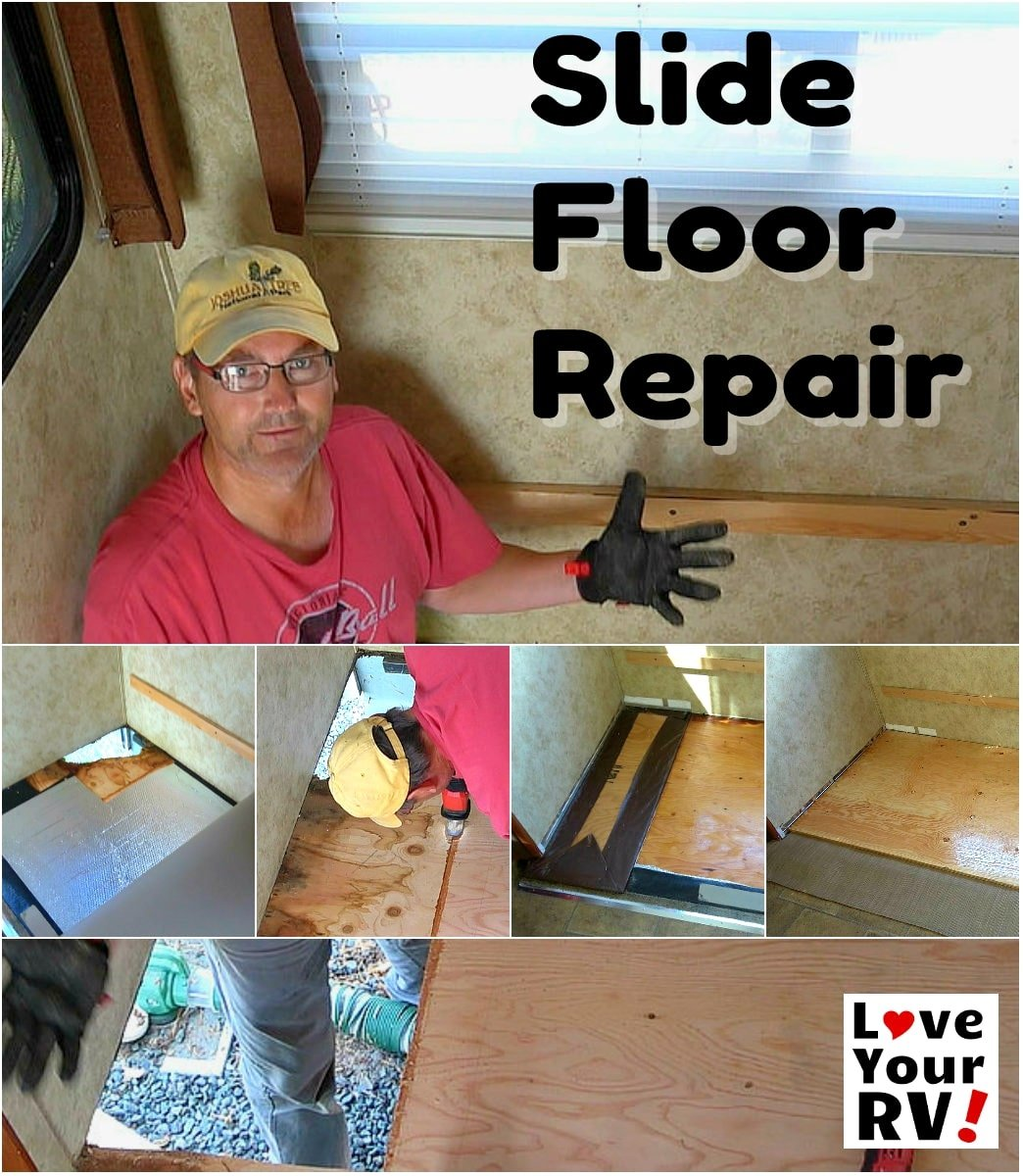 Rotted Rv Slide Out Floor Repair Fixed Manufacturer Flaw