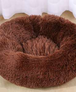 Dogs Plush Round Velvet Cushion Bed