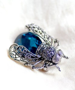 Crystal Insect Brooch