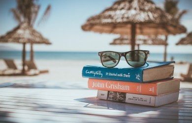 read-book-beach