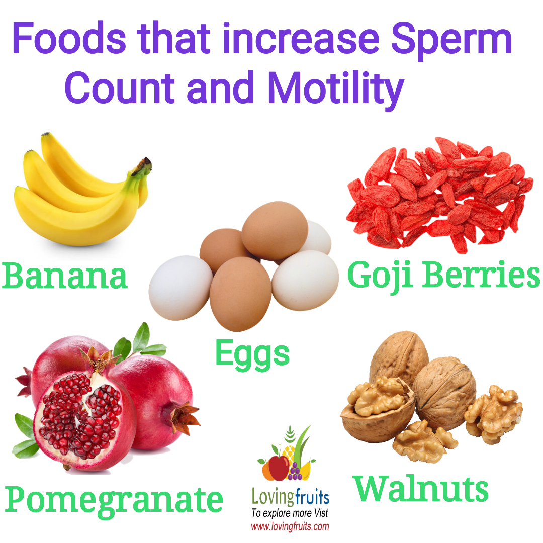 5 Foods that increase Sperm Count and Motility