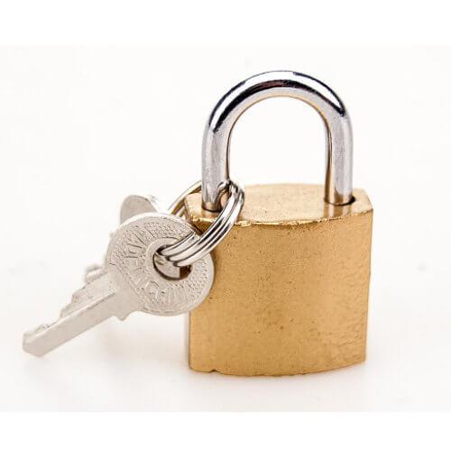 Bondage Padlock and Keys