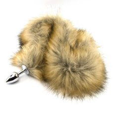Furry Fantasy Metal Butt Plug with Tail