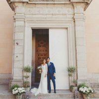 Colegiata loving lavanda boda religiosa
