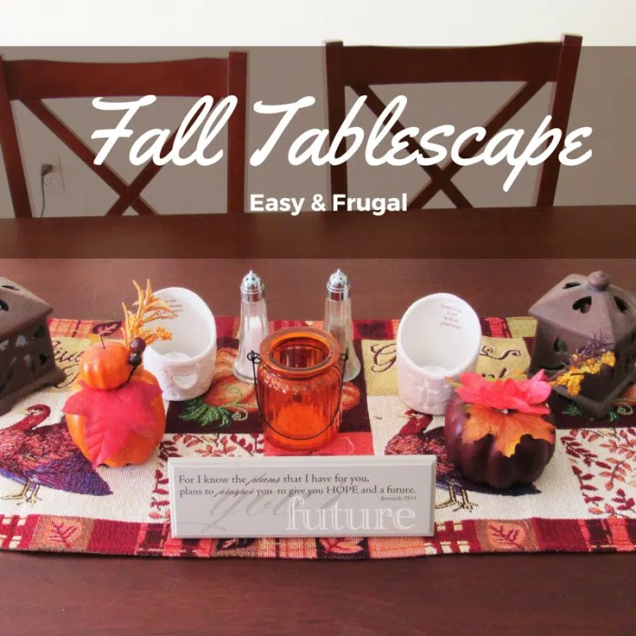 Easy & Frugal DIY Fall Tablescape