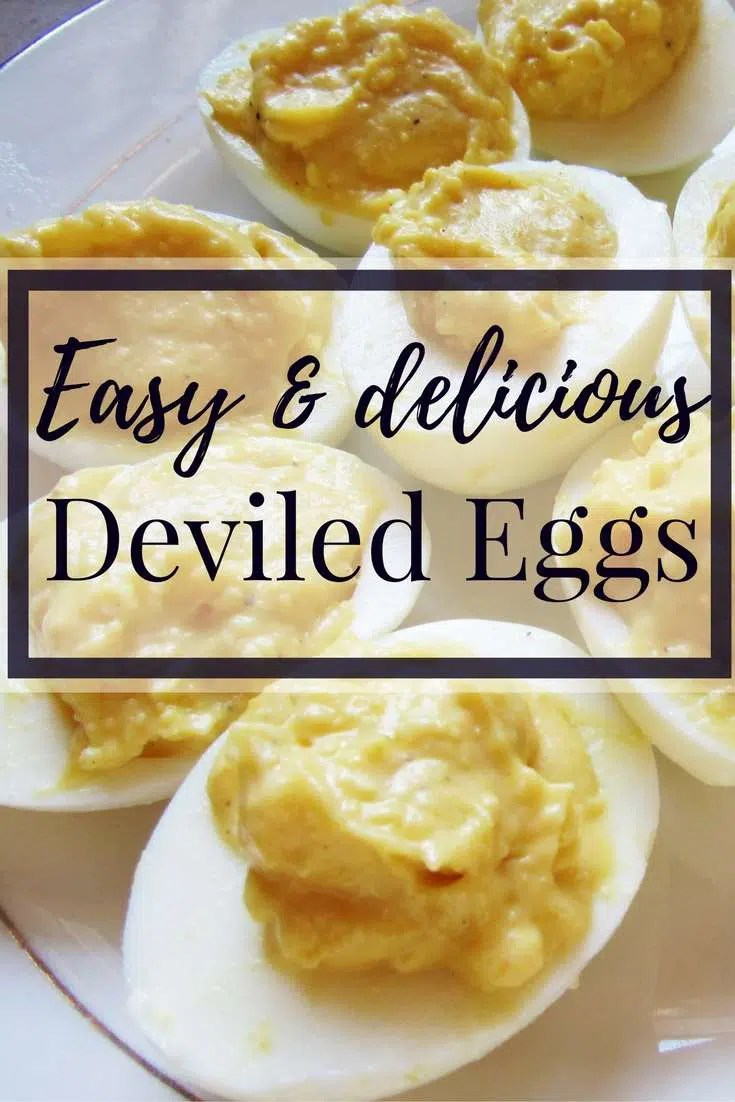 Easy & Delicious Deviled Eggs - a great holiday side dish or party appetizer!
