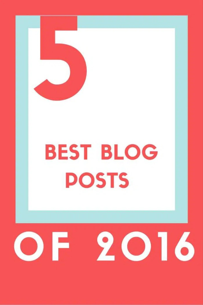 Top 5 Blog Posts of 2016