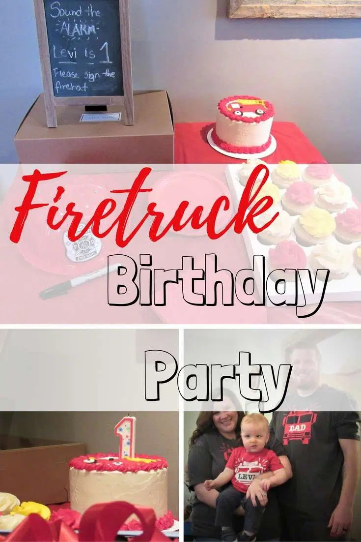 Firetruck Theme Birthday Party