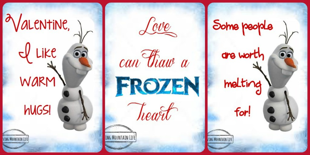 Frozen Valentines | FREE Printable | Loving Mountain Life