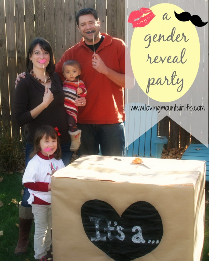 Smooch or Stache Gender Reveal Party | Loving Mountain Life
