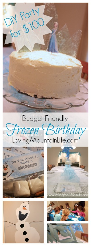 DIY a Budget Friendly Frozen Party for $100 from Loving Mountain Life