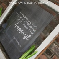 When Spring Came…with a FREE Printable!