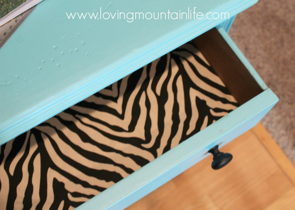 Quick & Easy DIY Fabric Lined Drawer from Loving Mountain Life