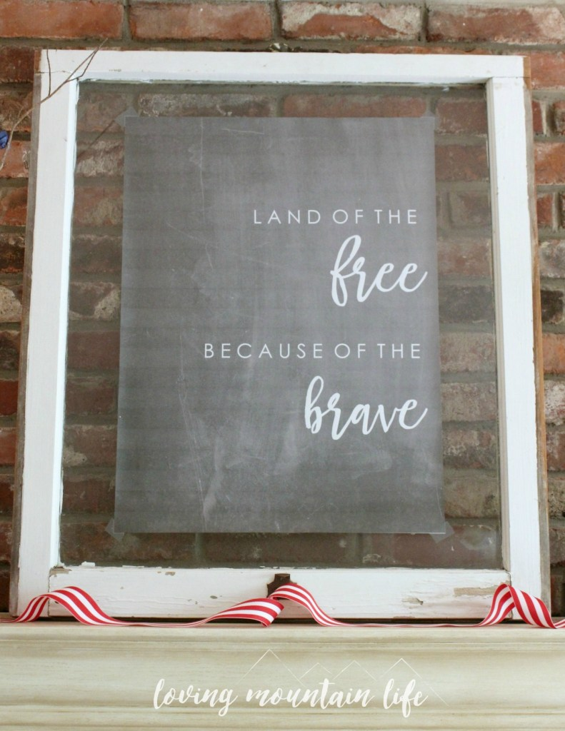 Easy and Beautiful DIY Patriotic Decor with FREE Printable from Loving Mountain Life