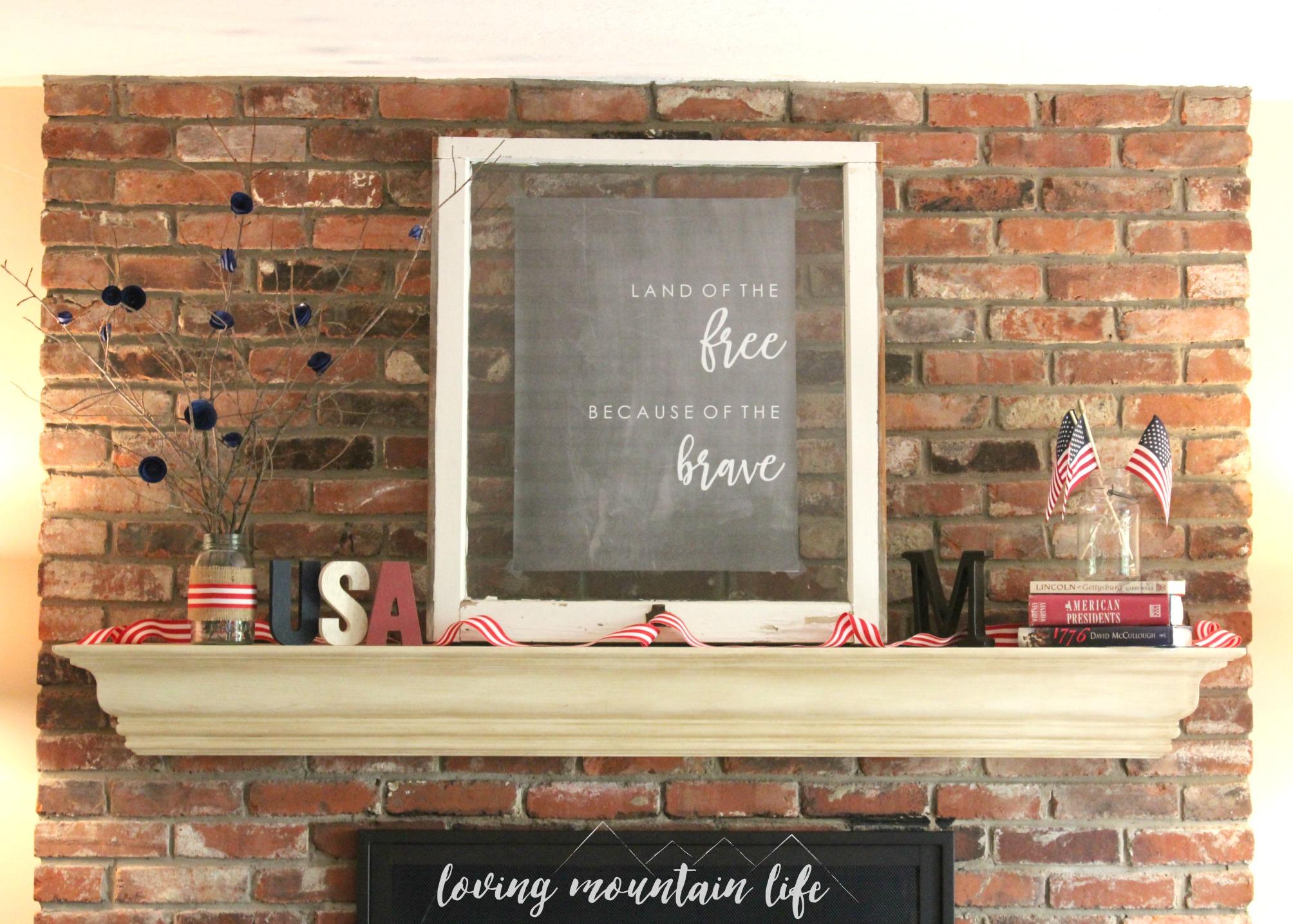 easy diy patriotic decor u0026 a free beautiful printable loving