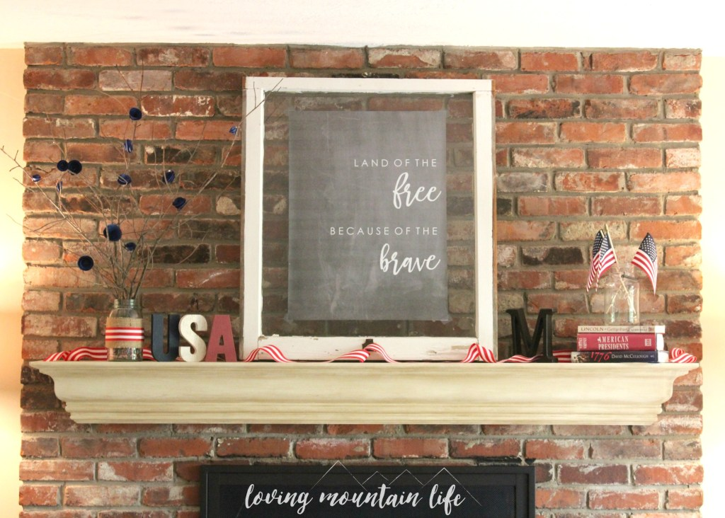 Easy and Beautiful DIY Patriotic Decor with FREE Printable from Loving Mountain Life3