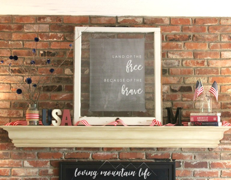Easy DIY Patriotic Decor & a FREE Beautiful Printable