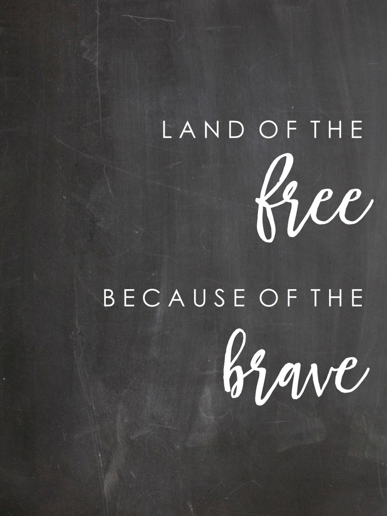 Land of the FREE Because of the BRAVE from Loving Mountain Life