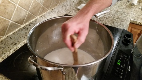 stirring milk