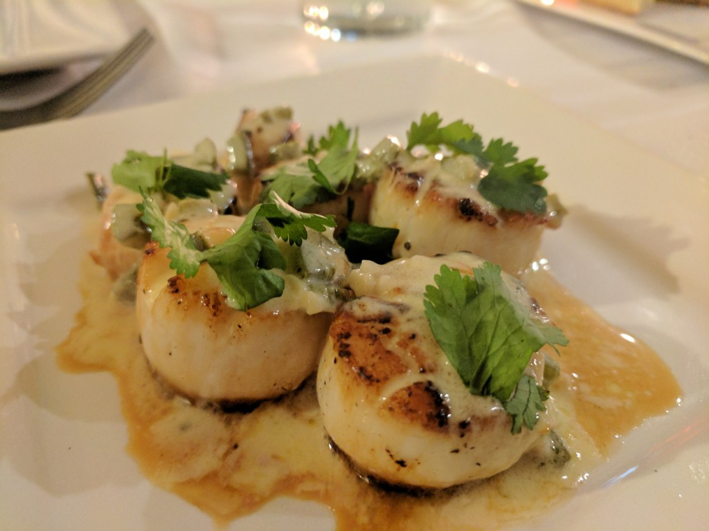sea scallops bourbon sauce