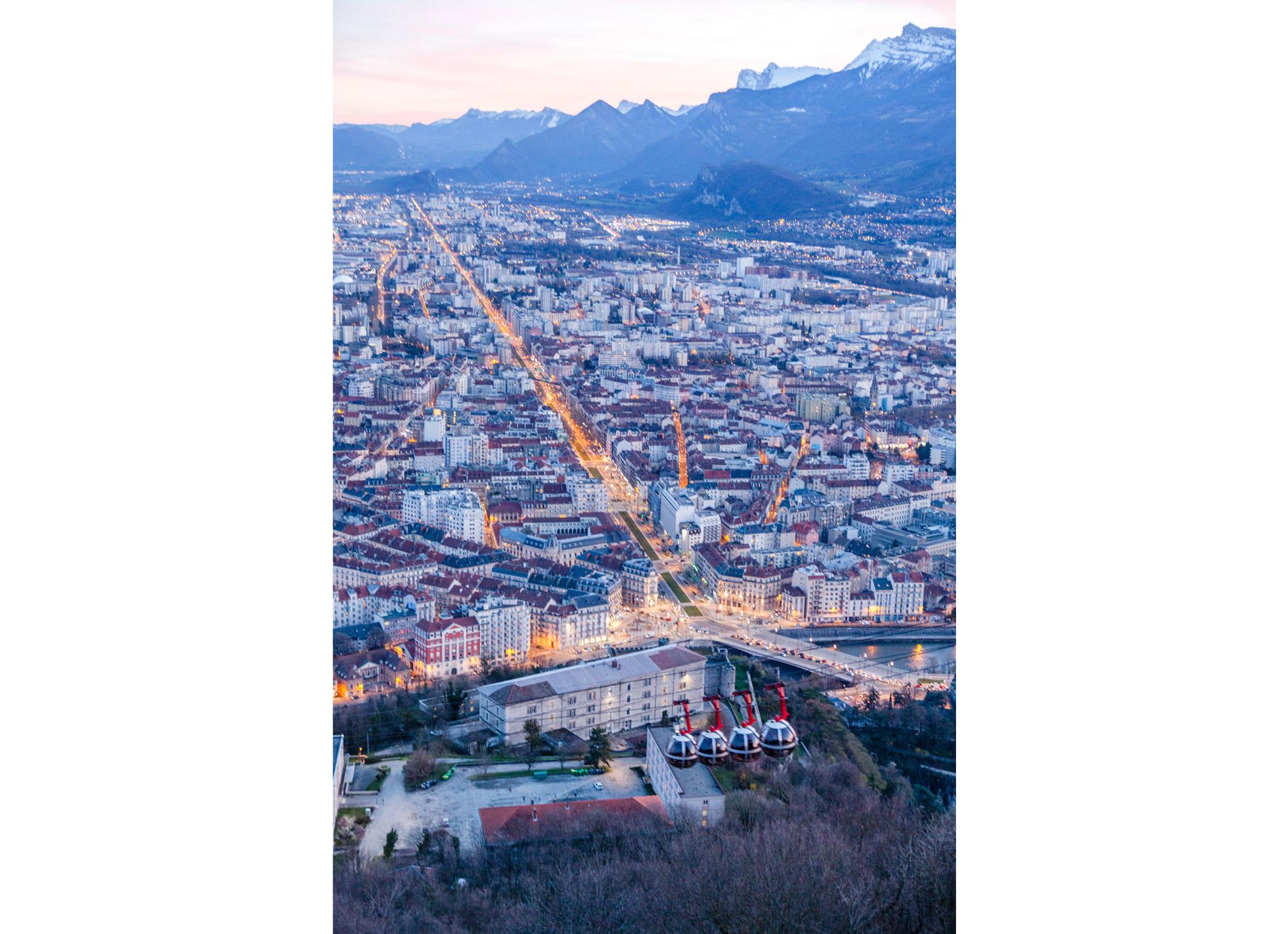 Grenoble Bastille sunset