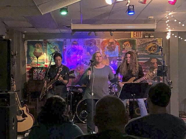 Above, the Loose Change Band performs in February 2019 at the former Keynote Café in Jeannette.