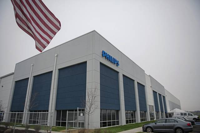 File photo of outside of the Philips Respironics facility in East Huntingdon.