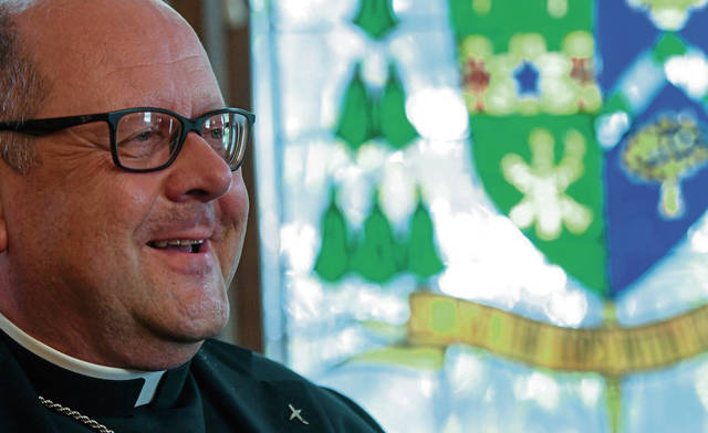 Bishop Edward Malesic talks about what he learned in his five-year tenure as bishop of the Catholic Diocese of Greensburg on Friday.