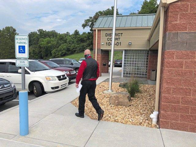 Jeremy Lynn leaves the office of District Judge Mark Mansour Friday, July 31, 2020, after waiving his right to a preliminary hearing.
