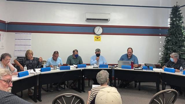 Delmont council members at a meeting on Tuesday at the borough building.