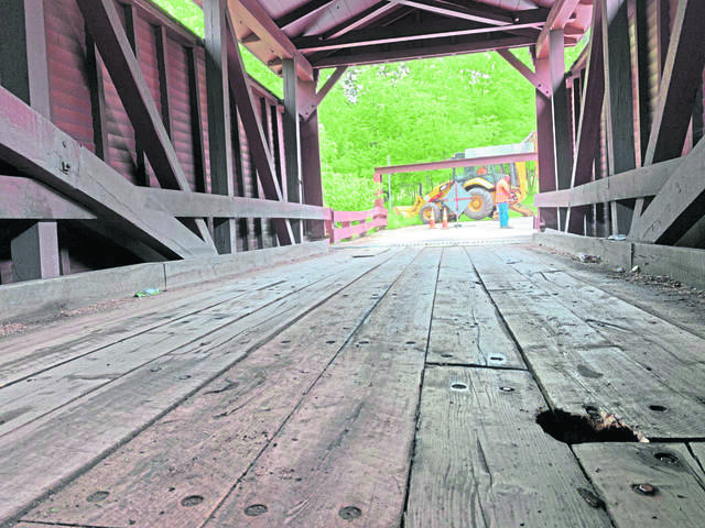 The historic Bells Mills Covered Bridge in Westmoreland County.