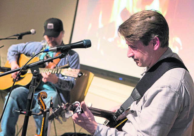 Fort Ligonier's outdoor History Happy Hour on Friday will feature music by Pat Petrarca (left) and Joe Golden.