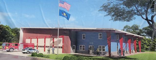 Artist's rendering of the new Derry Township Volunteer Fire Department fire hall and public safety building, slated for construction beginning in Fall 2020 on School Sreet in Bradenville.
