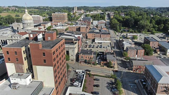 An aerial photo of Greensburg on Sept. 8, 2020.