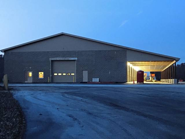 The Unity Township public works garage is seen on Nov. 14, 2019, as it was nearing completion next to the township municipal building. It replaced a previous garage that was destroyed in a Sept. 24, 2017, arson.
