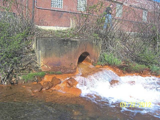 The Turtle Creek Watershed Association will use a state Growing Greener grant to support a planned study of the many abandoned mine drainage discharges that pollute the creek and its tributaries. One of the worst is this discharge that pumps iron into Brush Creek in Irwin.