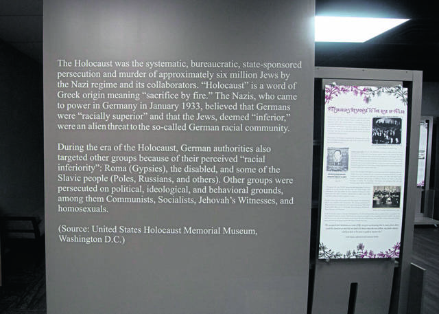 A 2020 exhibit at the the Holocaust Center of Pittsburghthat explains the Holocaust.