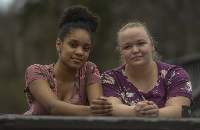 Khalaijah Collins 14, and Big Sister Lisa McDaid met at Twin Lakes Park on a recent Thursday. Meeting outdoors has been key to helping build a relationship during the past year.