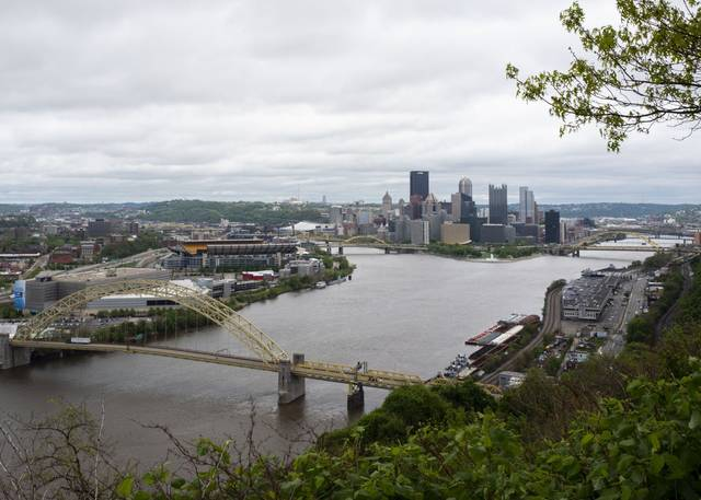Downtown Pittsburgh on Wednesday.