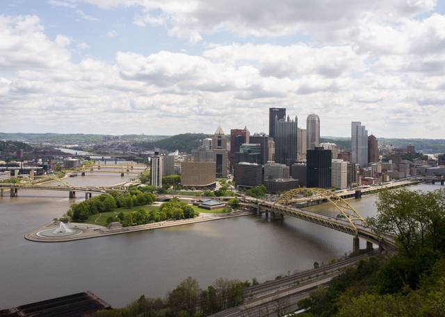Downtown Pittsburgh from the Duquesne Incline in Mt. Washington on Tuesday.