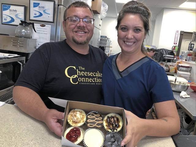 Tom and Heather Grove of Greensburg, owners of The Cheesecake Connection/The Cookie Cottage in Youngwood, are supplying their marble cheesecake to Guy Fieri's American Kitchen + Bar at Live! Casino Pittsburgh in Hempfield.