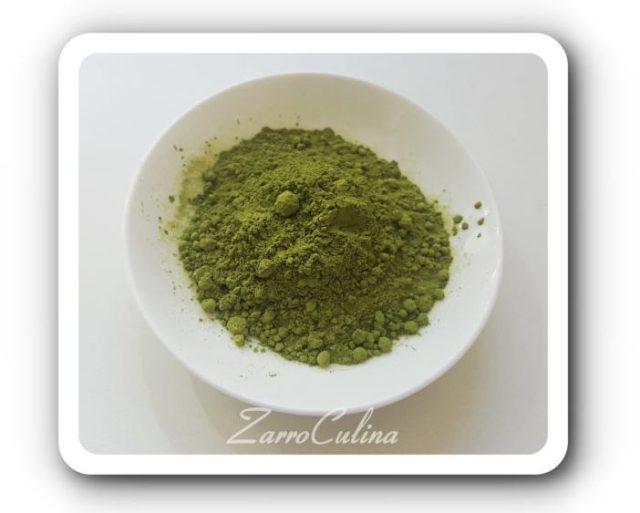Matcha-Tee - Titel weißer Border