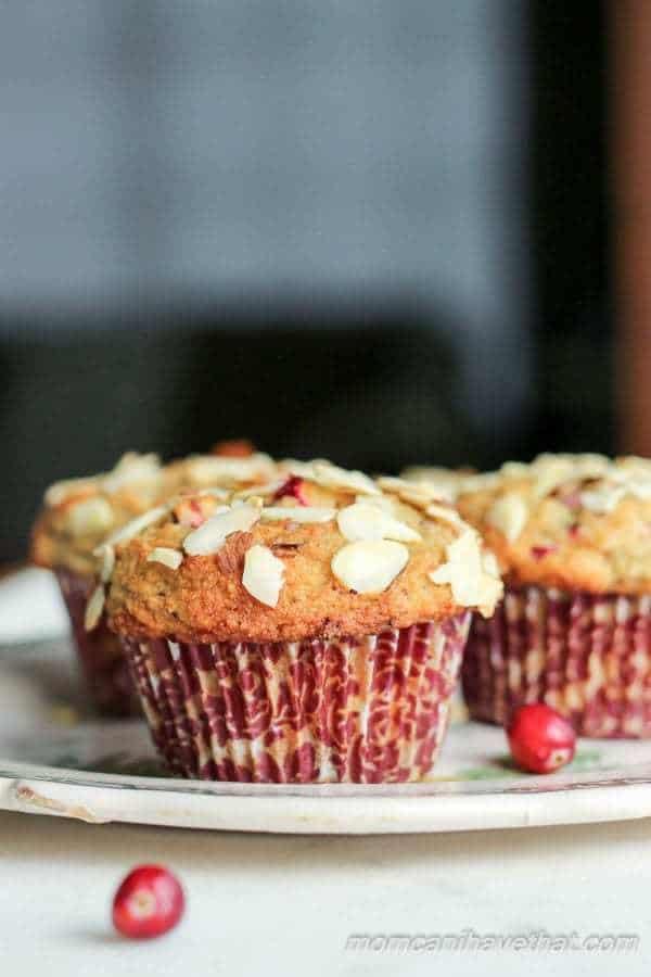 Cranberry Almond Crumb Muffins